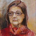 Lady In A Red Pullover by Barbara Pommerenke