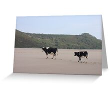 Cows Go On Holiday Too Greeting Card
