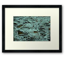 Crater Ice Framed Print