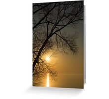 The Rising Sun and the Tree Greeting Card
