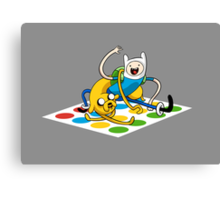 Adventure Time Twister Canvas Print