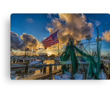 Pledge allegiance  to the flag Canvas Print