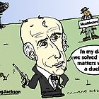 Editorial balding Andrew Jackson cartoon by Binary-Options