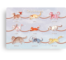 Santa's Little (Kitten) Helpers Canvas Print