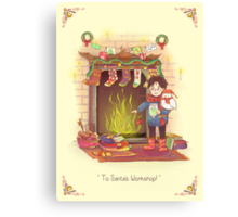 Take the Floo To Santa's Workshop! Canvas Print