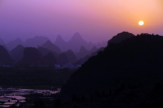 Putao town sunset by Robyn Lakeman