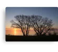 November Sunrise on Lake Ontario in Toronto, Canada  Canvas Print