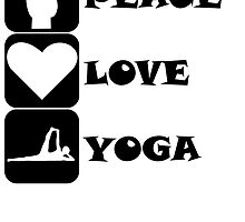 Peace Love Yoga by kwg2200