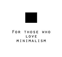 For those who love minimalism by divingtoodeep