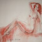 Lying nude by Julia Lesnichy