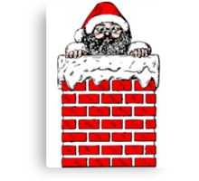 Santa Claus in the Chimney Canvas Print