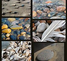 Beach Texture Collage by marybedy