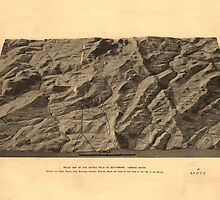 Relief Map of the Battle Field of Gettysburg by caljaysoc