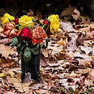 Graveside Flowers by Nevermind the Camera Photography