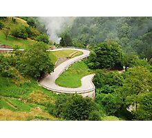Road in Carnic Alps Near Paularo Photographic Print