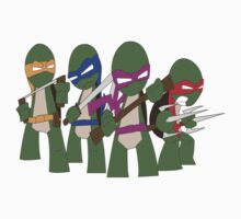 Teenage Mutant Ninja Turtles in full color by pudgysquirrles