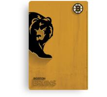 Boston Bruins Minimalist Print Canvas Print