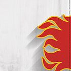 Calgary Flames Minimalist Print by SomebodyApparel