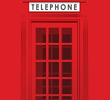 Red Telephone Booth by Tommy Susanto