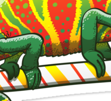 Christmas Chameleon Sticker