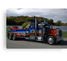 """Peterbuilt Big Rig Tow Truck """"Cars"""" Tribute Truck Canvas Print"""