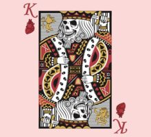 Horror Skeleton King Playing Card Kids Clothes