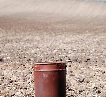 Rusty Bucket on Soil by jojobob