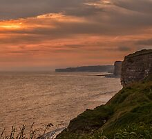 Sunset on the Glamorgan Heritage Coast by Judi Lion