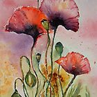 'Delicate Poppies' by fi-ceramics