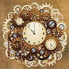 Steampunk Vintage Style Clocks and Gears by BluedarkArt