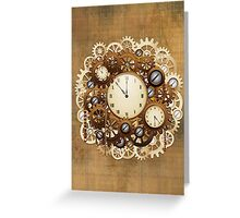 Steampunk Vintage Style Clocks and Gears Greeting Card