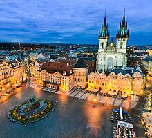 The Old Town Square in Prague by Michael Abid