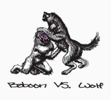 Baboon Vs, Wolf by YouSirNaMe