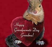 Grandparents Day Grandma Squirrel by jkartlife