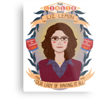 Liz Lemon Metal Print