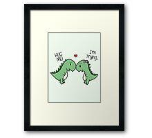 Dino Love! (Hug Me!) [Cases] Framed Print