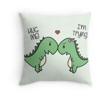 Dino Love! (Hug Me!) [Cases] Throw Pillow