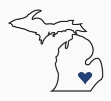 Michigan Love - Blue  by ahagen