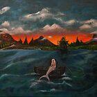 Sunset On Mermaid Island by ltruskett