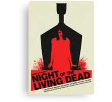 George A. Romero's Night of the Living Dead Movie Poster  Canvas Print