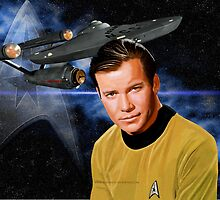 William Shatner-Captain James T. Kirk by Andrew Wells