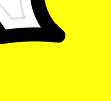 Yellow Duck Drawing Sticker