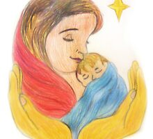 Mary and baby jesus christmas card by tbailey