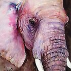 Dark Knight - The Elephant in Watercolors by Arti Chauhan