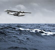 Catalina at sea  by Gary Eason