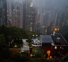 Rising towers of Hong Kong top view by vishwadeep  anshu