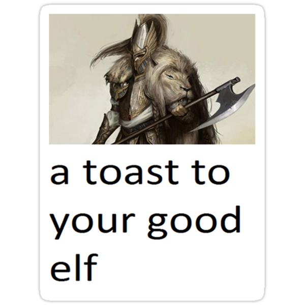 a toast to your good elf by jamescasswell1