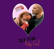 Criminal Minds - Talk To Me Baby Girl Ipad Case by Rachel Kent