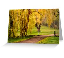 Willows In Spring Greeting Card