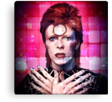 Psychedelic Bowie  Canvas Print
